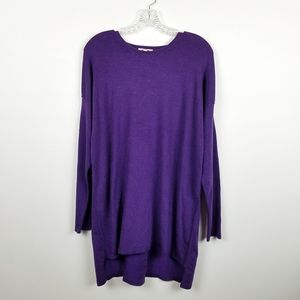Eileen Fisher M Purple Dolman Sleeve Sweater Tunic